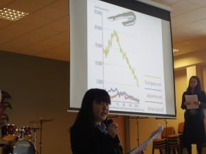 ヨーロッパウナギ(写真黄色折れ線)の激減について
