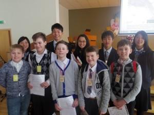 招待発表を行ったリトアニア北部の小学生