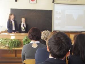 中学生による発表「リトアニアの大気汚染」